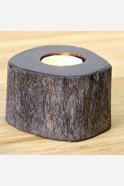Svietnik skamenené drevo tmavý