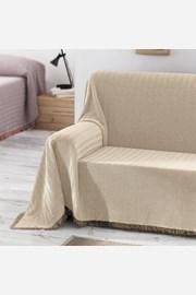 Prikrývka na posteľ Aitana béžová