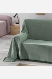 Prikrývka na posteľ Aitana zelená