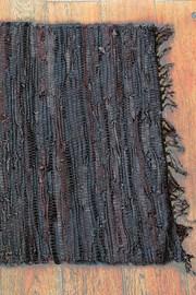Koberček Home design z kože hnedý