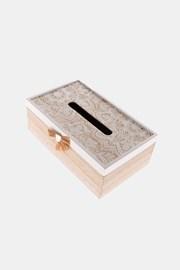 Drevená krabička na vreckovky