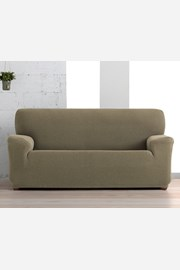 Creta háromszemélyes kanapéhuzat, barna