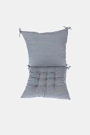 Komplet sedáku s vankúšom modro-biely