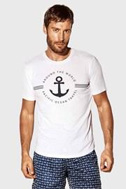 Biele tričko Captain Blues
