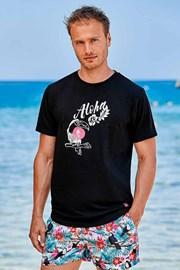 Čierne tričko Hawaii