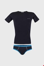 Modrý komplet chlapčenských slipov a trička