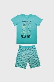 Skate világoskék fiú pizsama