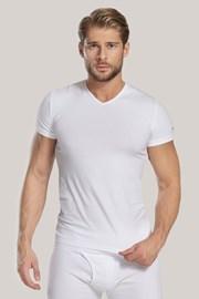 Pánske tričko V neck biele