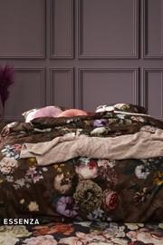 Obliečky Essenza Home Fleur Chocolate