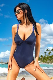 Dámske jednodielne plavky Kamala Blue
