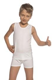 Komplet chlapčenského tielka a boxeriek biely