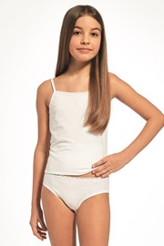 Komplet dievčenského tielka a nohavičiek biely
