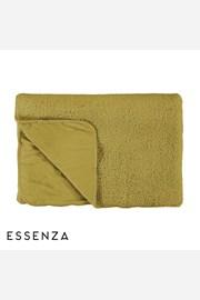 Prikrývka na posteľ Essenza Home Lammy žltá