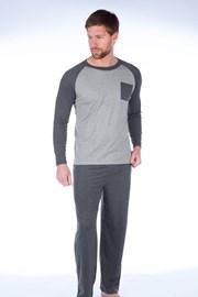 Pánske pyžamo Richard sivé