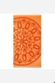 Plážová osuška Mandala oranžová