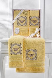 Darčeková súprava uterákov žltá