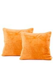 Súprava 2 ks obliečok na vankúšik oranžová