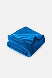 Mikroplyšová deka modrá