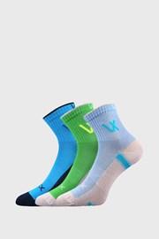 3 PACK chlapčenských športových ponožiek VOXX Neonik