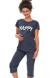 Materské dojčiace pyžamo Happy Mommy modré