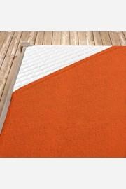 Napínacie froté prestieradlo oranžové