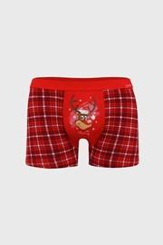 Červené vianočné boxerky Reindeer
