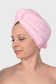 Turban na vlasy ružový
