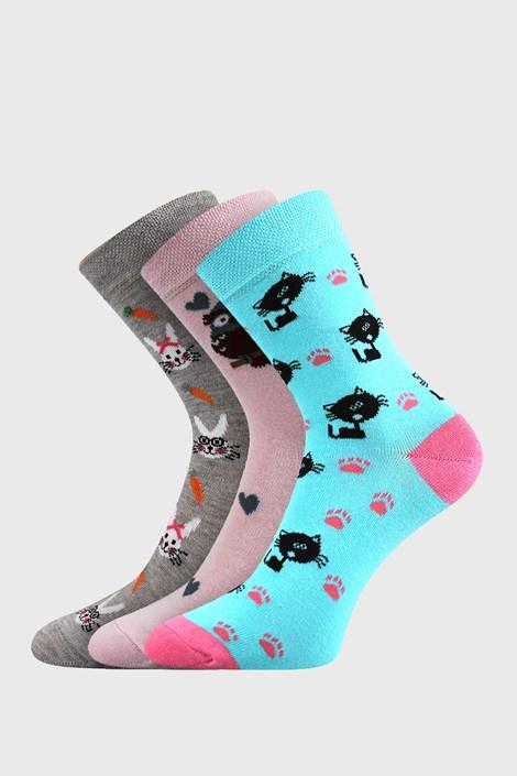 3 PACK dievčenských ponožiek Lovely