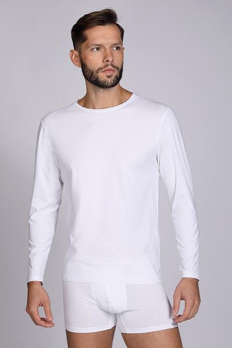 Biele tričko s dlhými rukávmi Cotton Nature
