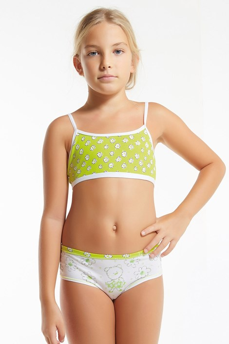 Dievčenský komplet nohavičiek a topu Flower Green