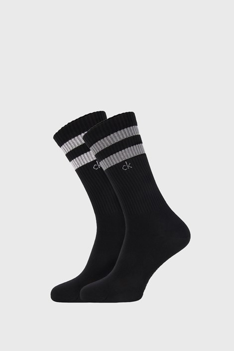 2 PACK čiernych ponožiek Calvin Klein Maurice