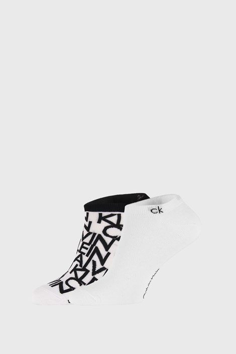 2 PACK bielych ponožiek Calvin Klein Deangelo