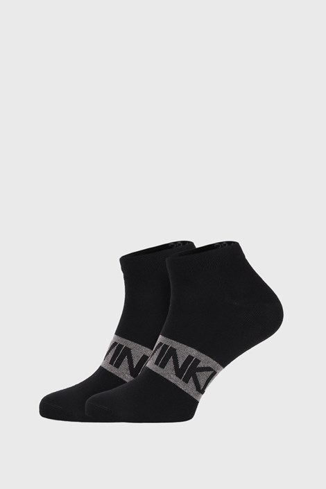 2 PACK čiernych ponožiek Calvin Klein Dirk