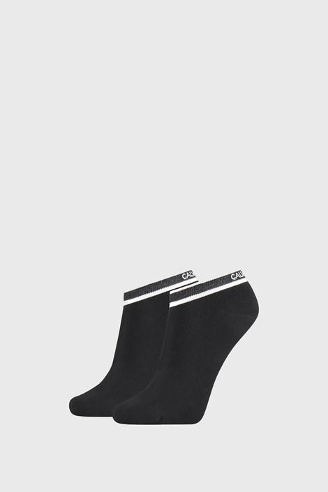 2 PACK čiernych dámskych ponožiek Calvin Klein Spencer