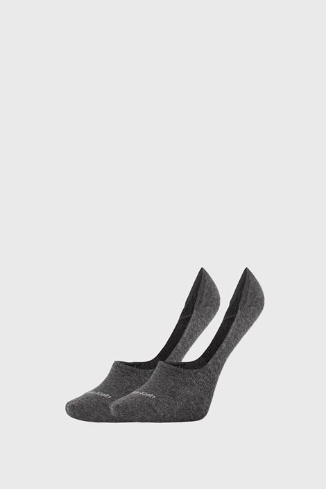 2 PACK dámskych ponožiek Calvin Klein Jessica sivé