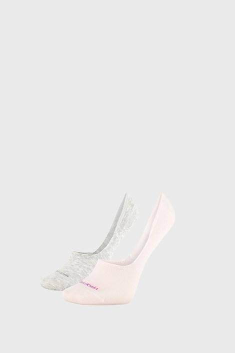 2 PACK dámskych ponožiek Calvin Klein Jessica sivo-ružové