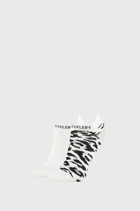 2 PACK dámskych ponožiek Calvin Klein Libby biele