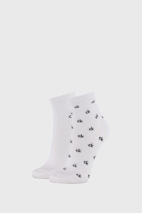 2 PACK dámskych bielych ponožiek Calvin Klein Gretchen
