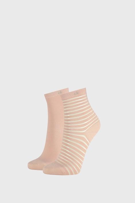 2 PACK dámskych ponožiek Calvin Klein Lilly ružové