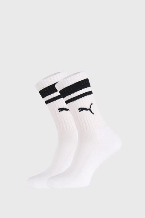2 PACK bielo-čiernych ponožiek Puma Crew