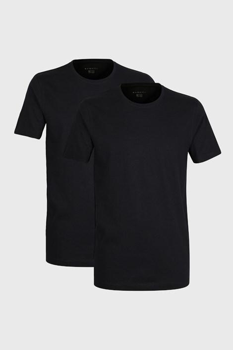 2 PACK čiernych tričiek bugatti O-neck