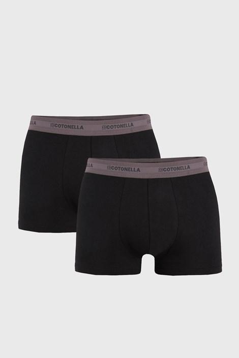 2 PACK sivo-čiernych boxeriek Uomo Comfort