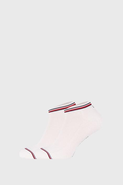 2 PACK bielych ponožiek Tommy Hilfiger Iconic Sneaker