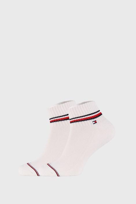 2 PACK bielych členkových ponožiek Tommy Hilfiger Iconic