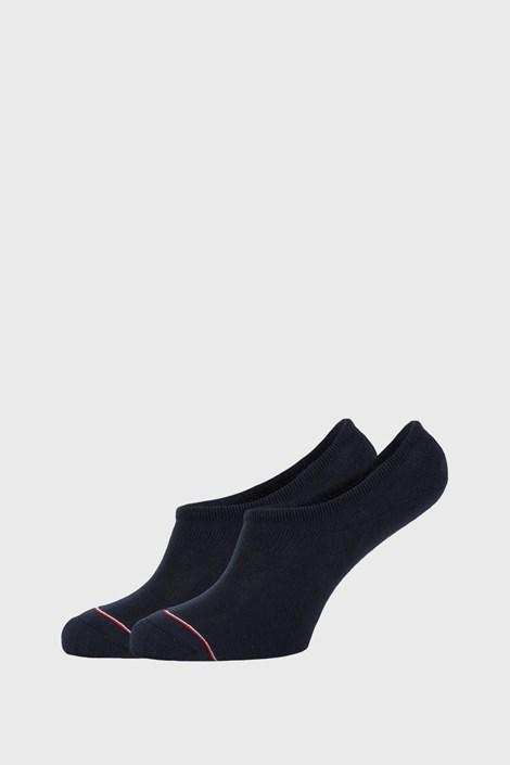 2 PACK modrých nízkych ponožiek Tommy Hilfiger Iconic