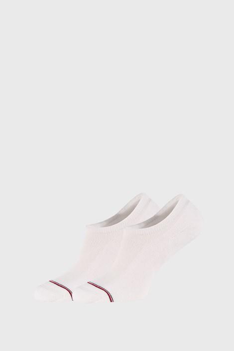 2 PACK bielych nízkych ponožiek Tommy Hilfiger Iconic