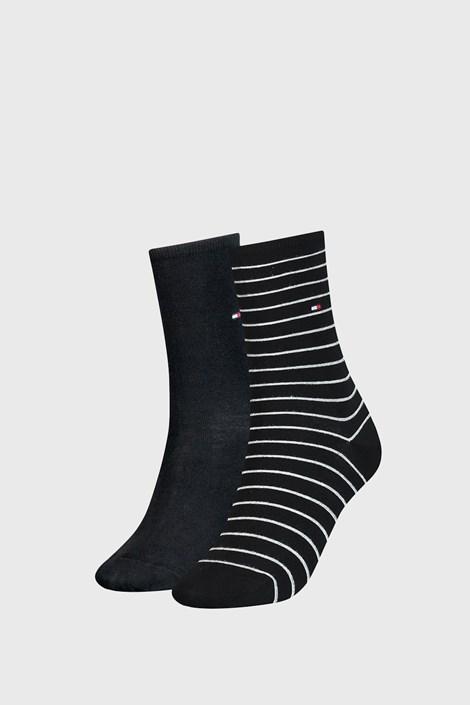 2 PACK dámskych ponožiek Tommy Hilfiger Small Stripe Black