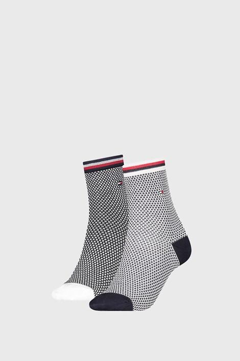 2 PACK dámskych ponožiek Tommy Hilfiger Honeycomb Navy