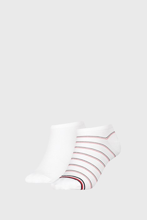 2 PACK dámskych ponožiek Tommy Hilfiger Preppy White