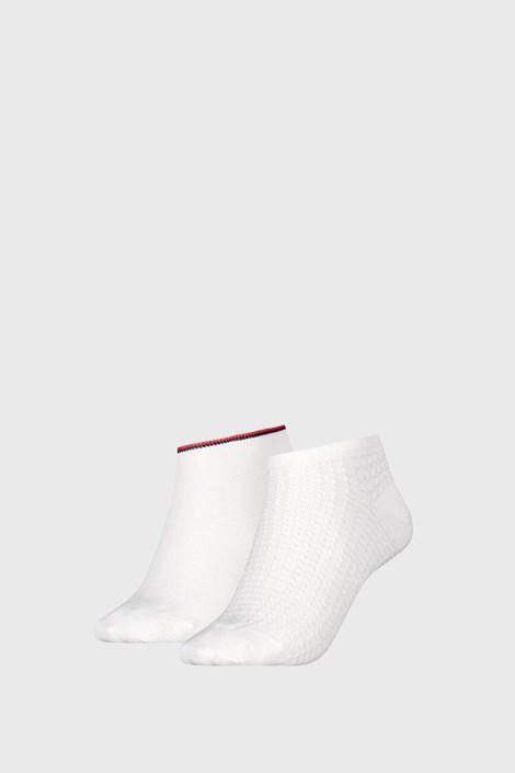 2 PACK dámskych ponožoek Tommy Hilfiger Waffle White